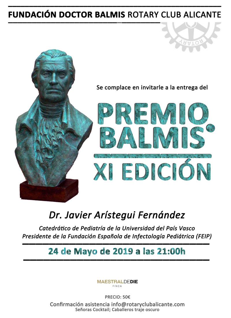 Invitación Premio Balmis 2019