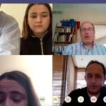 Foto reunión virutal con estudiantes de intercambio